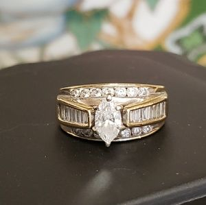 Jewelry - 2 ct TW Marquise Diamond Engagement /Wedding Ring